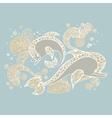 Dolphin doodle sketch vector image vector image