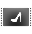 elegant high heel shoe icon vector image vector image