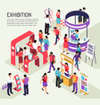 exhibition isometric expo background vector image vector image