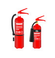 fire extinguishers set isolated on white vector image vector image