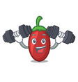 fitness goji berries character cartoon vector image