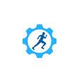 gear run logo icon design vector image vector image