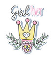 girl power cute cartoons vector image vector image
