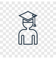 graduating concept linear icon isolated on vector image vector image