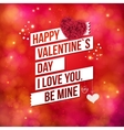 Greeting card design for Valentines Day vector image vector image