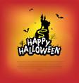 halloween design with happy halloween vector image