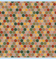 hexagons seamless pattern in autumn palette vector image vector image