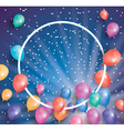 Holiday card with flying balloons vector image vector image
