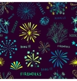 Holiday fireworks seamless pattern vector image vector image
