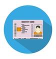 Identification card icon vector image vector image