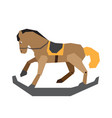 isolated wooden horse toy vector image vector image