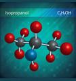 Isopropanol molecules vector image vector image