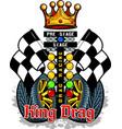 king drag vector image vector image