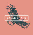 logotype eagle vector image vector image