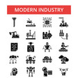modern industry thin line icons vector image vector image