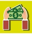 money bills dollar tax vector image vector image