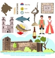 Montenegro culture symbol set vector image vector image