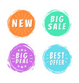 new big sale best offer deal text on painted spots vector image vector image
