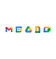 new google product logo set with flat multicolor vector image vector image