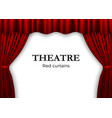 open red theater curtain background for banner or vector image