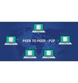 p2p peer to concept architecture vector image