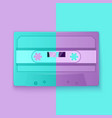 painted retro cassette tapes purple and turquoise vector image