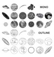 planets of the solar system monochrom icons in set vector image vector image