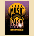 poster for a moon music party in nightclub vector image