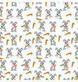 rabbit pattern vector image vector image