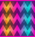 rainbow color zigzag seamless pattern vector image vector image