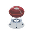 red closed grill for barbecue vector image