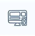 Responsive web design sketch icon vector image