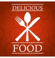 restaurant cover vector image vector image