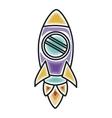 rocket icon design vector image vector image