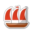 sailboat vehicle isolated icon vector image