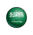 saudi arabian flag football - soccer ball vector image
