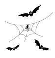 scary spiderweb black cobweb bat spider vector image