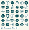 set finest quality labels vector image