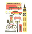 set of london objects vector image vector image