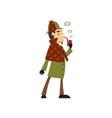 sherlock holmes detective character smoking vector image vector image