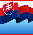 slovak flag wavy abstract background vector image vector image