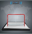 smartphone hockey game hockey gates icons vector image vector image