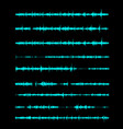 sound wave a linear form in song vector image