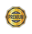 special price sticker golden premium product seal vector image vector image