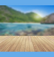 summer background island blue sky with clouds and vector image