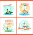 sweet summer time collection vector image vector image
