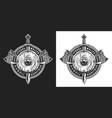 viking vintage monochrome emblem vector image