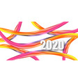 2020 new year on background a colorful vector image vector image