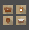 4 icons business bag light bulb envelope speaker vector image vector image