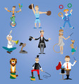 a set of circus performers vector image vector image